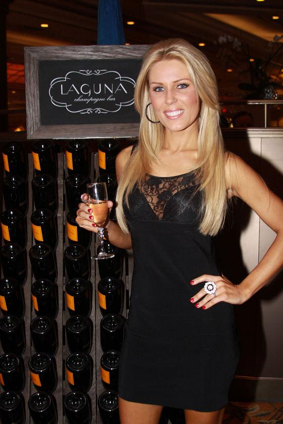 Gretchen Rossi at the Laguna Champagne Bar at The Palazzo