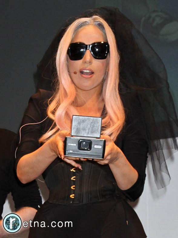 Lady Gaga and Polaroid at CES