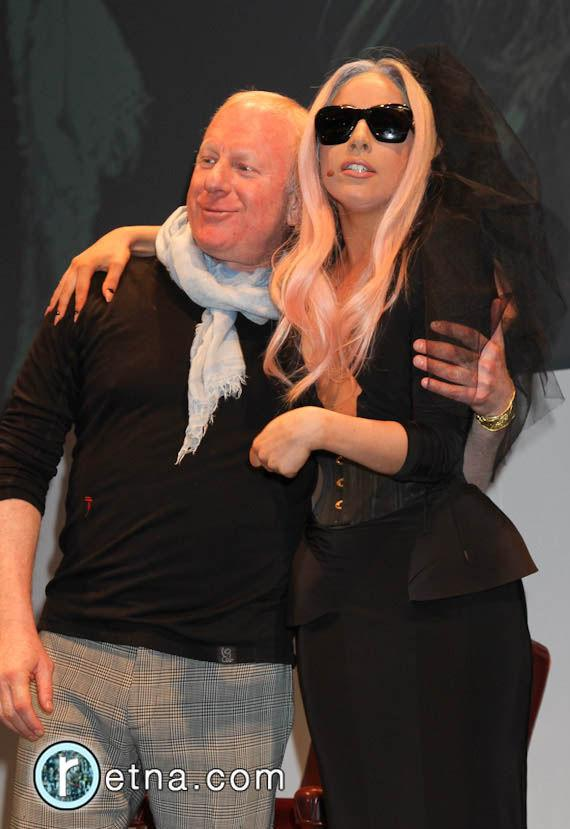 Lady Gaga and Polaroid Chairman Bobby Sagar at CES