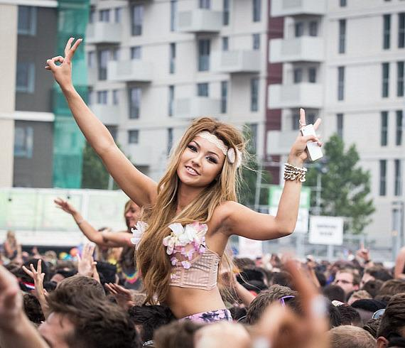 Crowd at Electric Daisy Carnival in London
