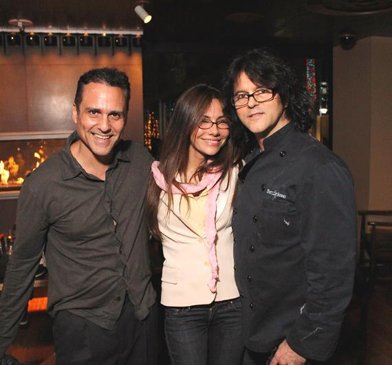 """General Hospital"" stars Maurice Benard (left) and Vanessa Marcil (middle) pose with Executive Chef Kerry Simon (right)"