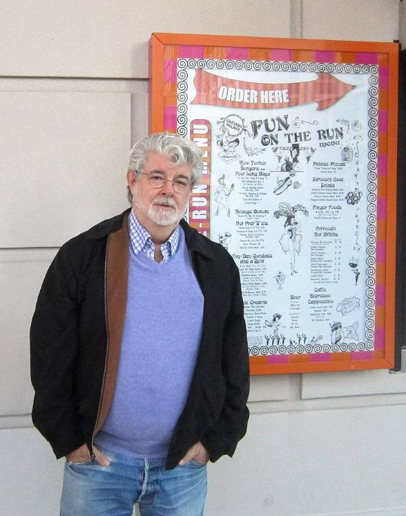George Lucas stands in front of Serendipity 3 at Caesars Palace