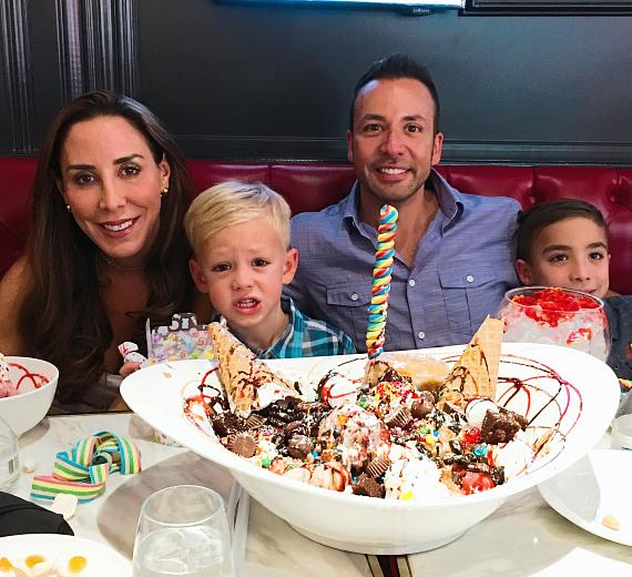 Howie Dorough and family at Sugar Factory Las Vegas