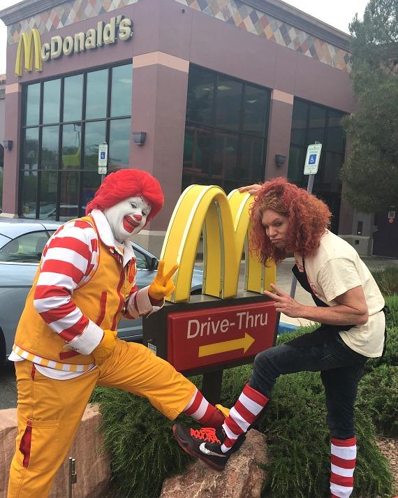 Ronald McDonald and Carrot Top