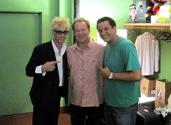 "Murray SawChuck with Dr. Gadget and Doug ""Lefty"" Leferovich backstage at the Tropicana"