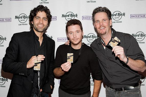 Adrian Grenier, Kevin Connolly and Kevin Dillon with Backstage Passes