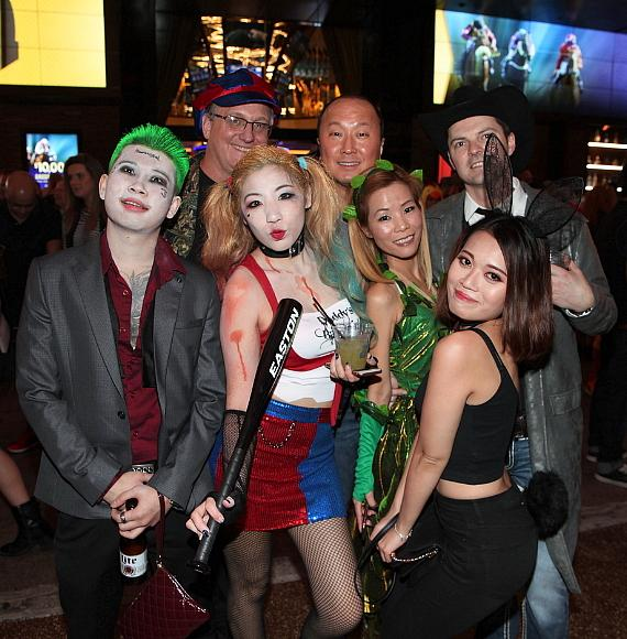 Halloween guests at the D Casino Hotel