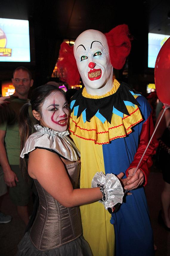 Guests at the D Casino Hotel on Halloween