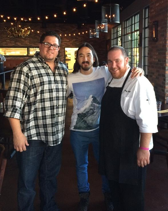DJ Steve Aoki Visits Pot Liquor Contemporary American Smokehouse at Town Square Las Vegas