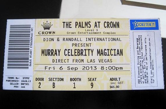 """Ticket to """"Murray Celebrity Magician"""" at The Palms at Crown"""
