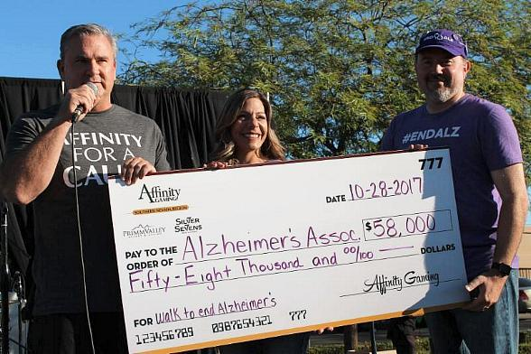 Affinity Gaming Donates $58,000 to Alzheimer's Association