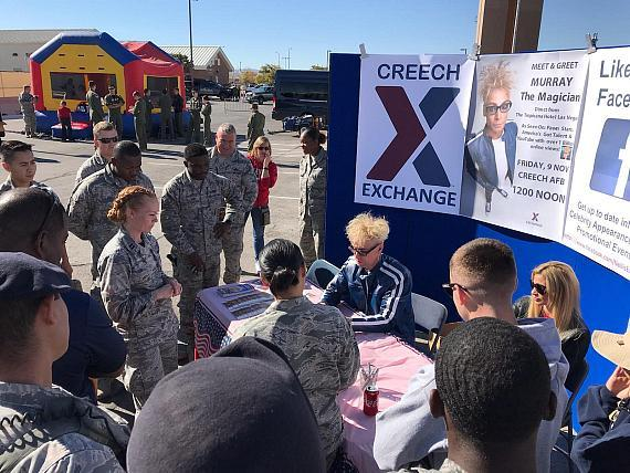 MURRAY The Magician Visits the Air Force and Military Families at Creech Air Force Base