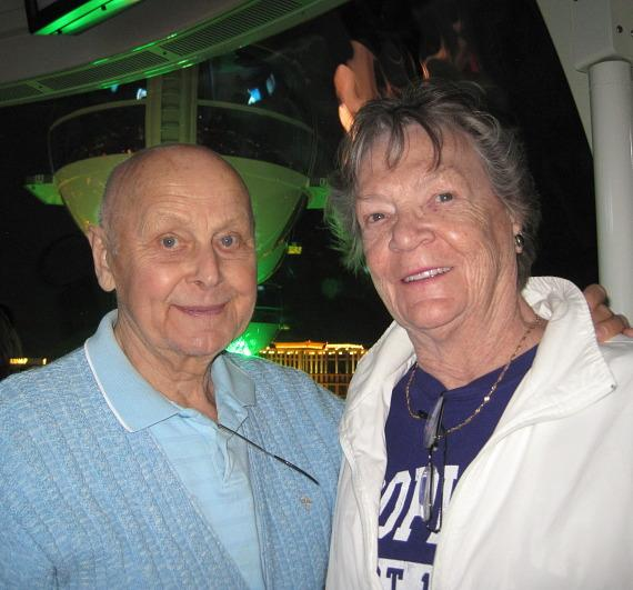 Murray's parents, John and Arlene Sawchuk at The LINQ in Las Vegas