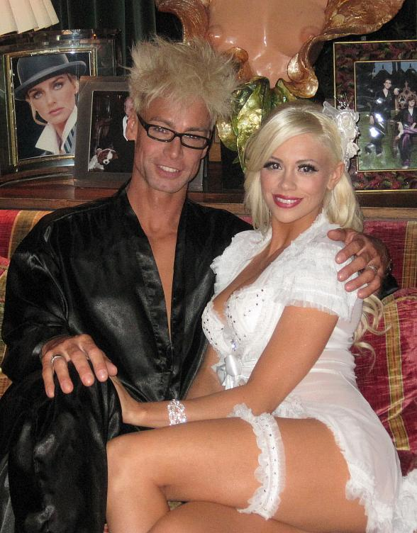 Playboy Cybergirl Chloe Crawford Visits The Playboy Mansion for Hugh Hefner's Mid-Summer's Night Dream Party
