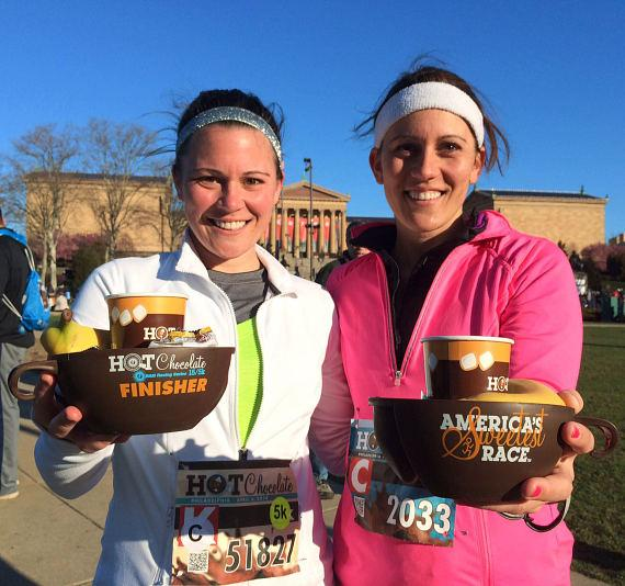Runners in the Hot Chocolate 15k/5k Race