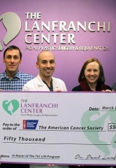 "The Lanfranchi Center Donates $50,000 to Launch the ""TLC Lift For Life"" Program to Provide Taxi Transportation for Cancer Patients"