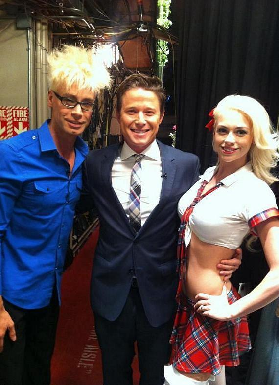 Murray SawChuck, Billy Bush and Chloe Louise Crawford