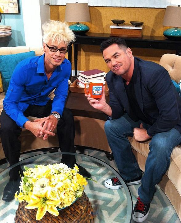 "Murray SawChuck with Dean Cain, host of The CW's ""Masters of Illusion"" on Access Hollywood"