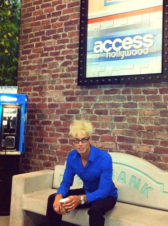 Murray SawChuck shoots his first Access Hollywood show at Burbank Studios