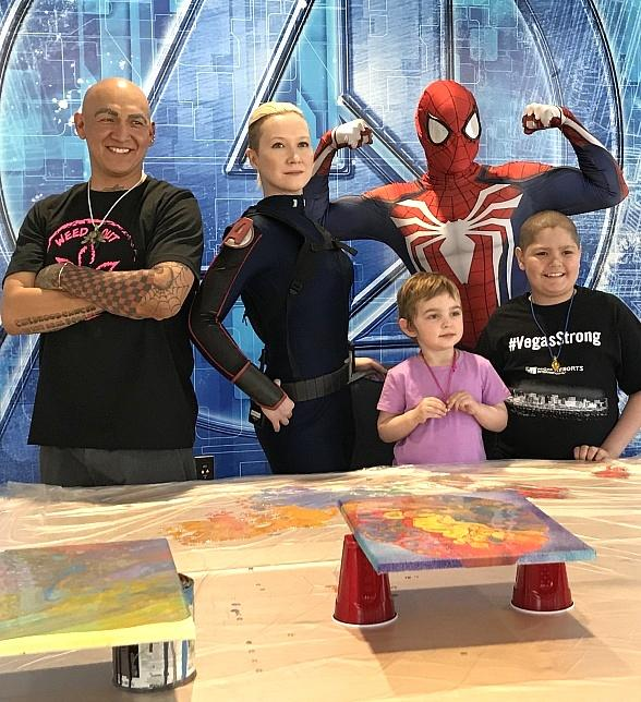 Childhood Cancer Warriors Create One-Of-A-Kind Art at Marvel Avengers S.T.A.T.I.O.N. in Treasure Island Las Vegas