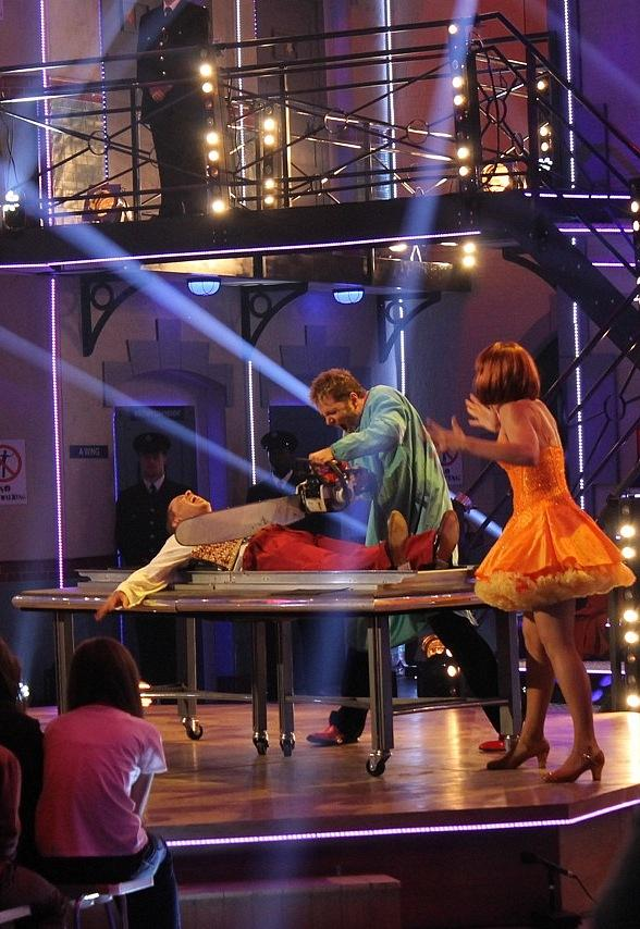 Jarrett & Raja Perform Signature Sawing in Half Illusion on BBC TV in London