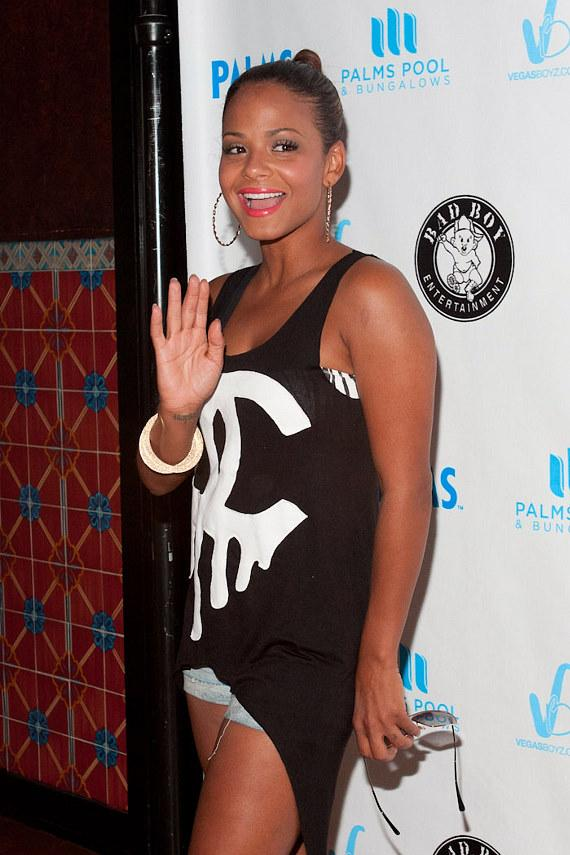 Christina Milian at Palms Pool and Bungalows at The Palms Resort in Las Vegas