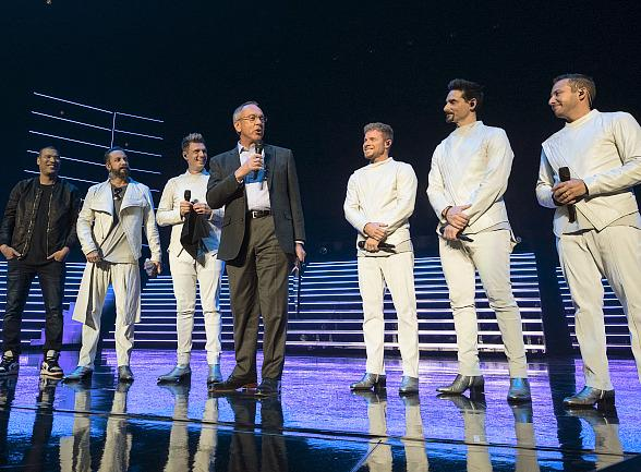 "Backstreet Boys Presented With Keys to Las Vegas' Iconic Strip; April 10 Declared as ""Backstreet Boys Day"" by Clark County Commissioner Jim Gibson"