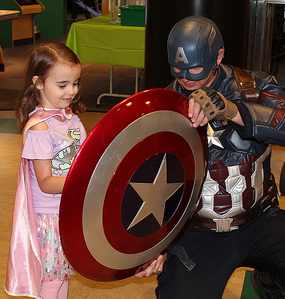 Children and Families Celebrate Superhero Day at DISCOVERY Children's Museum on Saturday, July 6