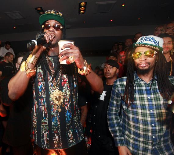 2Chainz and Lil Jon at 1OAK Nightclub