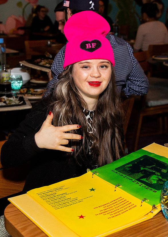 """""""Born This Way"""" Star Megan Bomgaars Celebrates B-Day at Roy Choi's Best Friend in Vegas Star"""" Megan Bomgaars Celebrates B-Day at Roy Choi's Best Friend in Vegas"""