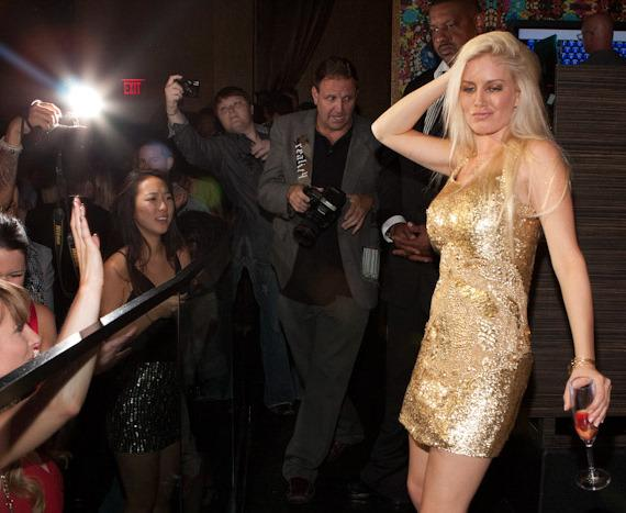 Heidi Montag poses for photos at Vanity Nightclub in Hard Rock Hotel