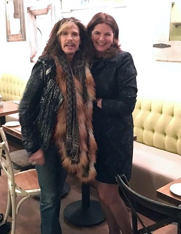 Aerosmith front man Steven Tyler dines at Honey Salt in Las Vegas
