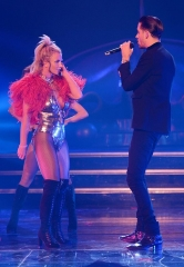 """G-Eazy Performs with Britney Spears at """"Britney: Piece of  Me"""" at Planet Hollywood Resort & Casino"""