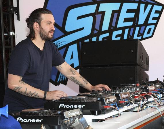 DJ Steve Angello spins at Encore Beach Club