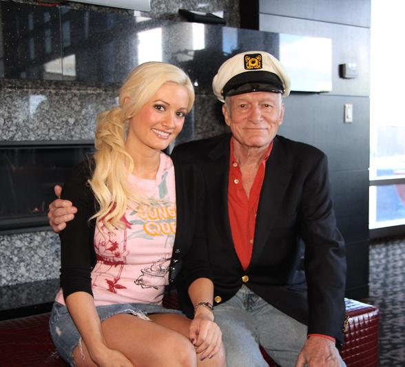 Hugh Hefner and Holly Madison in Hugh Hefner Sky Villa at The Palms