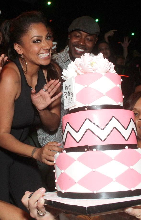 LaLa Anthony Celebrates Birthday at The Bank Nightclub at The Bellagio