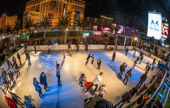 Ice Out Cancer Over Vegas At The Rink Cosmopolitan Of Las