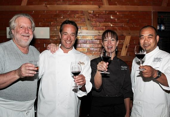 Chefs Bruce Bromberg of Blue Ribbon Sushi Bar and Grill, Jonathan Waxman of Barbuto, Jennifer Puccio of Park Tavern San Francisco and Clayton Arakawa of Mauna Lani Bay Hotel and Resort Hawaii