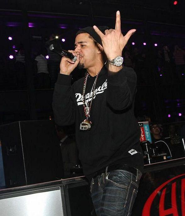 J. Cole Performs at HAZE Nightclub at ARIA