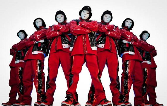 The Jabbawockeez show at Monte Carlo continues to entertain audiences from all over the world at The Monte Carlo in Las Vegas. This photograph become the icon for their Vegas show in 2011.