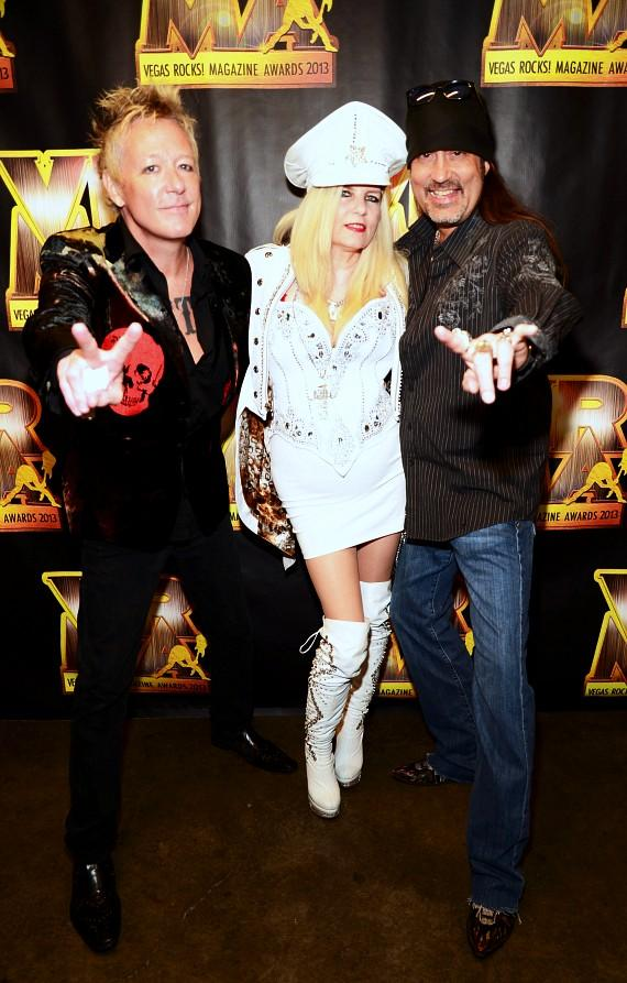 "James Kottak of The Scorpions, Sally Steele and Danny ""The Count"" Koker"
