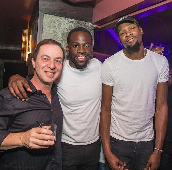 Golden State Warriors Draymond Green, Kevin Durant, Joseph Lacob Celebrate NBA Championship Title at JEWEL Nightclub ARIA Resort & Casino in Las Vegas