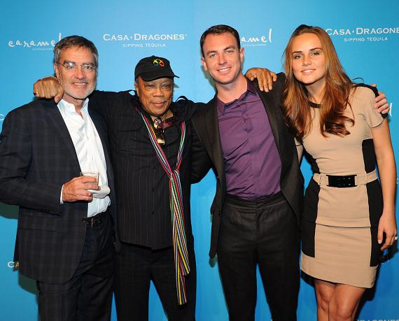 Bob Pittman, Quincy Jones, Robert Pittman and Ieva Vai