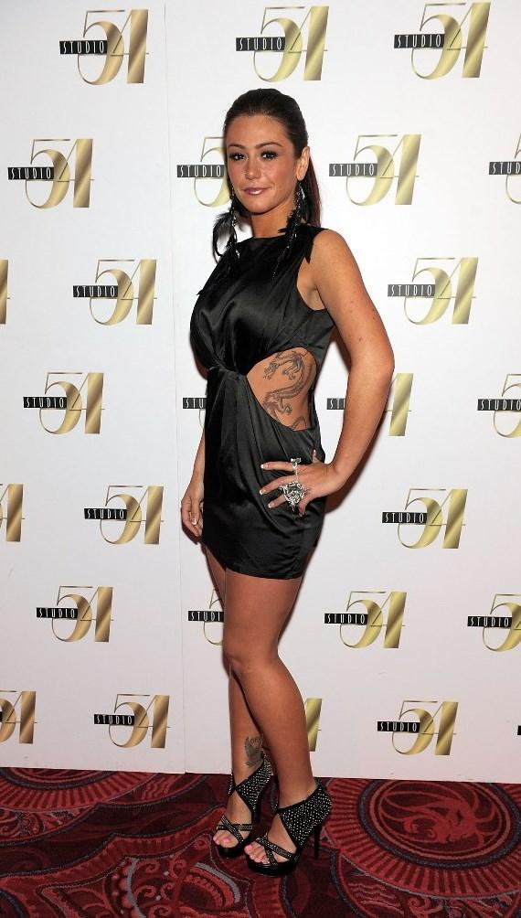 JWoww on the red carpet