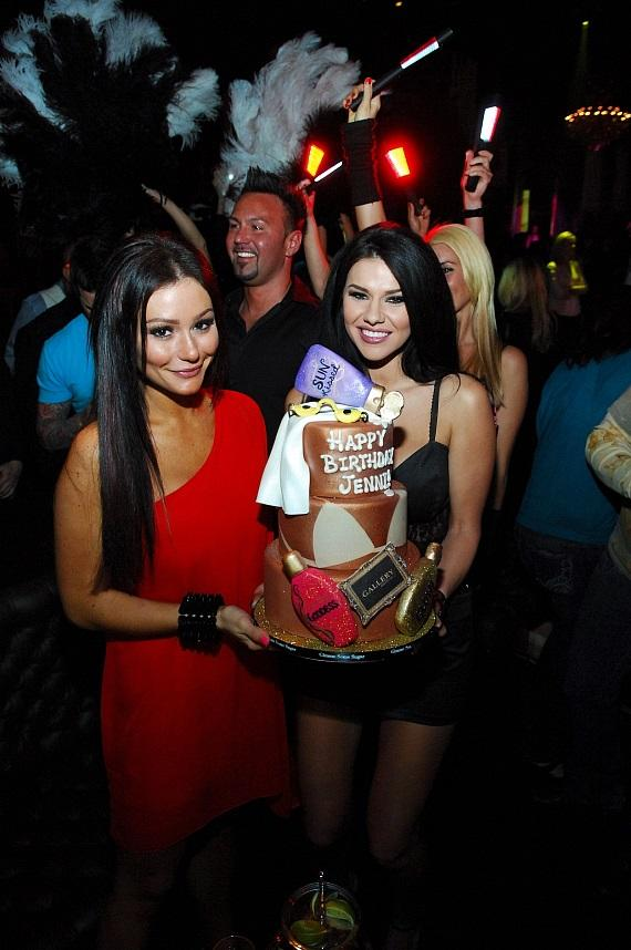 JWoww poses with her birthday cake