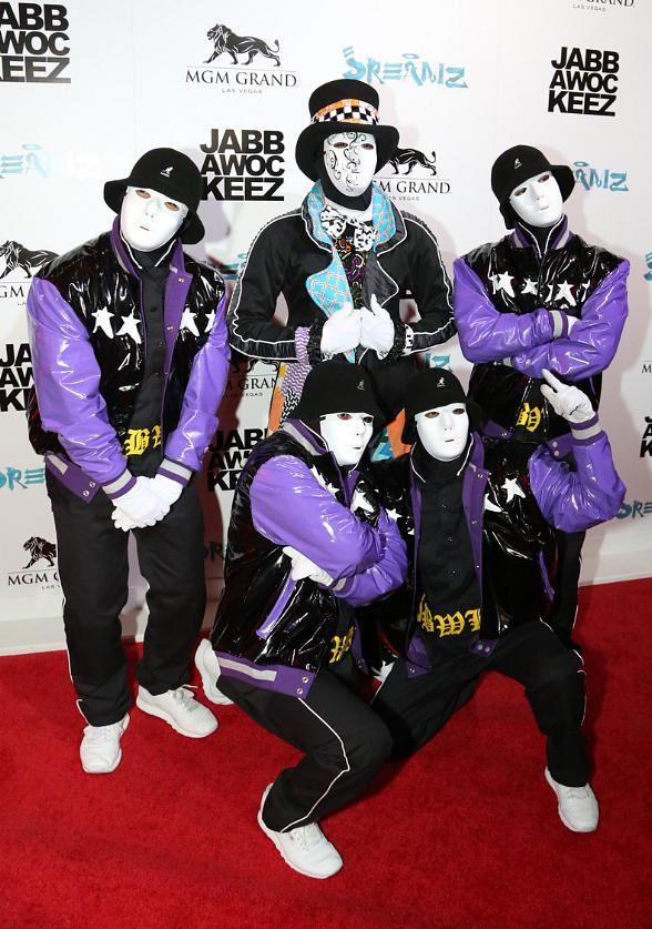 Ricardo Laguna, FANTASY, Prince Amukamara, Sleepy Brown, Forrest Vickery, Ryan Guzman help Jabbawockeez Celebrate New Show of JREAMZ at MGM Grand Las Vegas