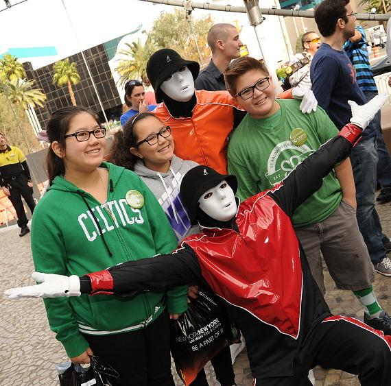 Jabbawockeez at New York-New York's Fifth Annual St. Baldrick's Day Fundraiser-570