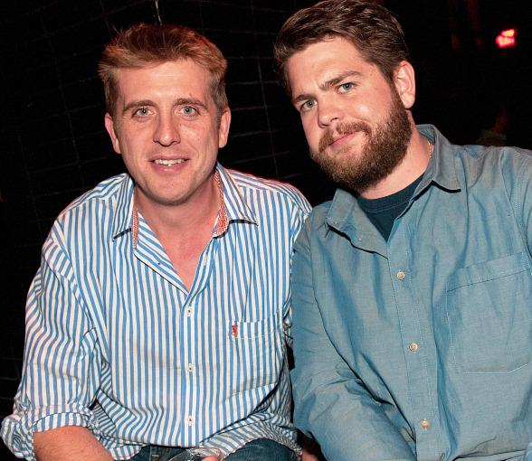 Jack Osbourne on right with friend at LAVO