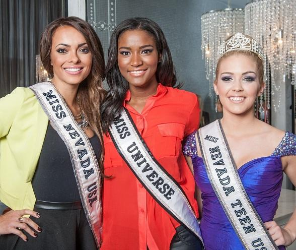 Jade Kelsall, Leila Lopes and Katie Eklund at COLOR Salon