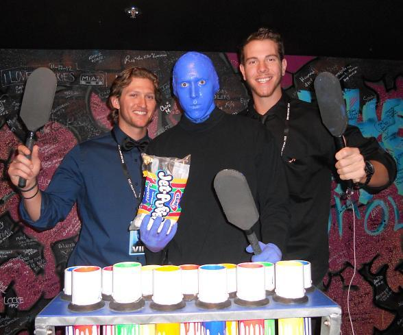 Jake hager and nick kingham at blue man group las vegas - Blue man group box office ...